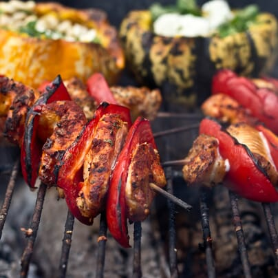 Chicken and Pepper Skewers | Photo by Claire Burge