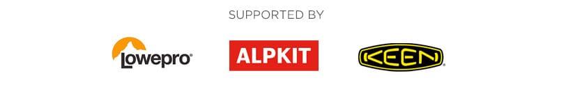 Supported by Lowepro, Alpkit & Keen Footwear