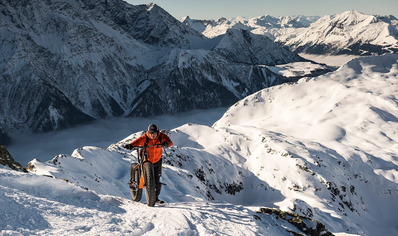 Geoff Harper fatbikes the Tour Du Mont Blanc – Photo by Daniel Wildey